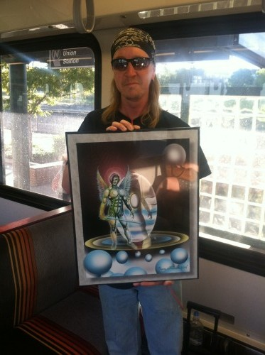 I met Fletch on the light rail. He gave me this artwork, inspired by the band TOOL. Nice guy...
